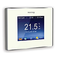 Warmup 4iE Smart WiFi Thermostat Bright Porcelain - 16A