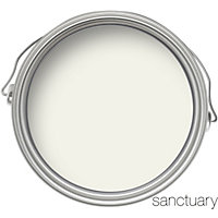 Sanctuary Eggshell Paint - Chalk White - 750ml