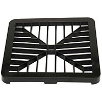 150mm Gully Grating - Black - 13 x 148 x 148mm