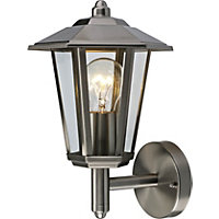 60W 6 Sided Lantern - Stainless Steel