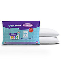Slumberdown Truly Washable Pillows - 2 Pack.