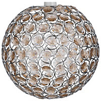 Crystal Pendant Globe Light - Champagne.