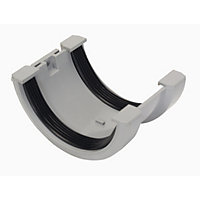76mm Half Round Joint Bracket - Grey - 46 x 91 x 64mm