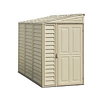 Sidemate Cream Plastic Apex Shed - 4x8ft (Includes Foundation Kit) Best Price, Cheapest Prices