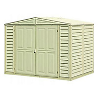 Duramate Cream Plastic Apex Shed - 8x5ft (Includes Foundation Kit) Best Price, Cheapest Prices