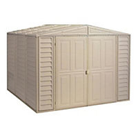 Duramate Cream Plastic Apex Shed - 8x8ft (Includes Foundation Kit) Best Price, Cheapest Prices