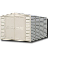 Duramate Cream Plastic Apex Shed - 8x10ft (Includes Foundation Kit) Best Price, Cheapest Prices