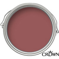 Crown Period Colours Tudor Rose - Flat Matt Emulsion Paint - 2.5L