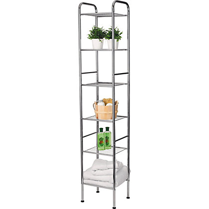 homebase bathroom shelves living slimline shaker storage unit with lid 6030