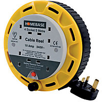 4-Socket Cable Reel - 5m