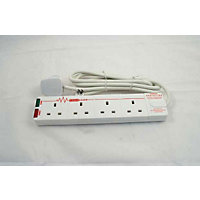 Surge Extension Lead - 4 Electrical Sockets - 2 Metres