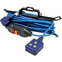 Heavy Duty 15 Metre 10A Extension Lead With In-Line RCD And Cable Tidy